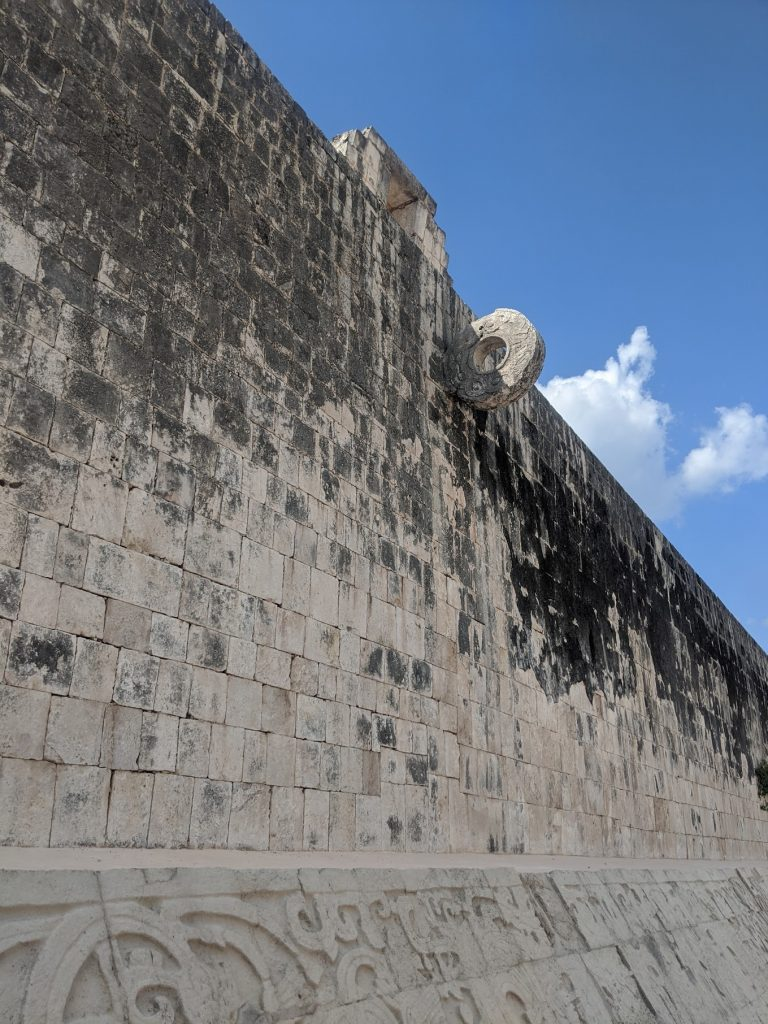 Goal hoop - 9 metres off the ground of the Great Ball Court in Chichen Itza